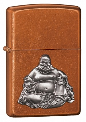 Laughing Buddha Emblem Toffee Zippo Lighter
