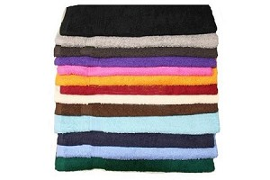 Salon Towels 16X27 Colors Premium 100% Cotton (BLACK)