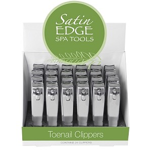 24 Pcs Stainless Steel Satin Edge Toenail Clippers