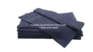 Hand Towels Navy Blue 16x27-Economy 100% cotton